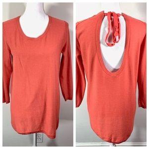 Aritzia Babaton Sweater Cashmere Silk tie back